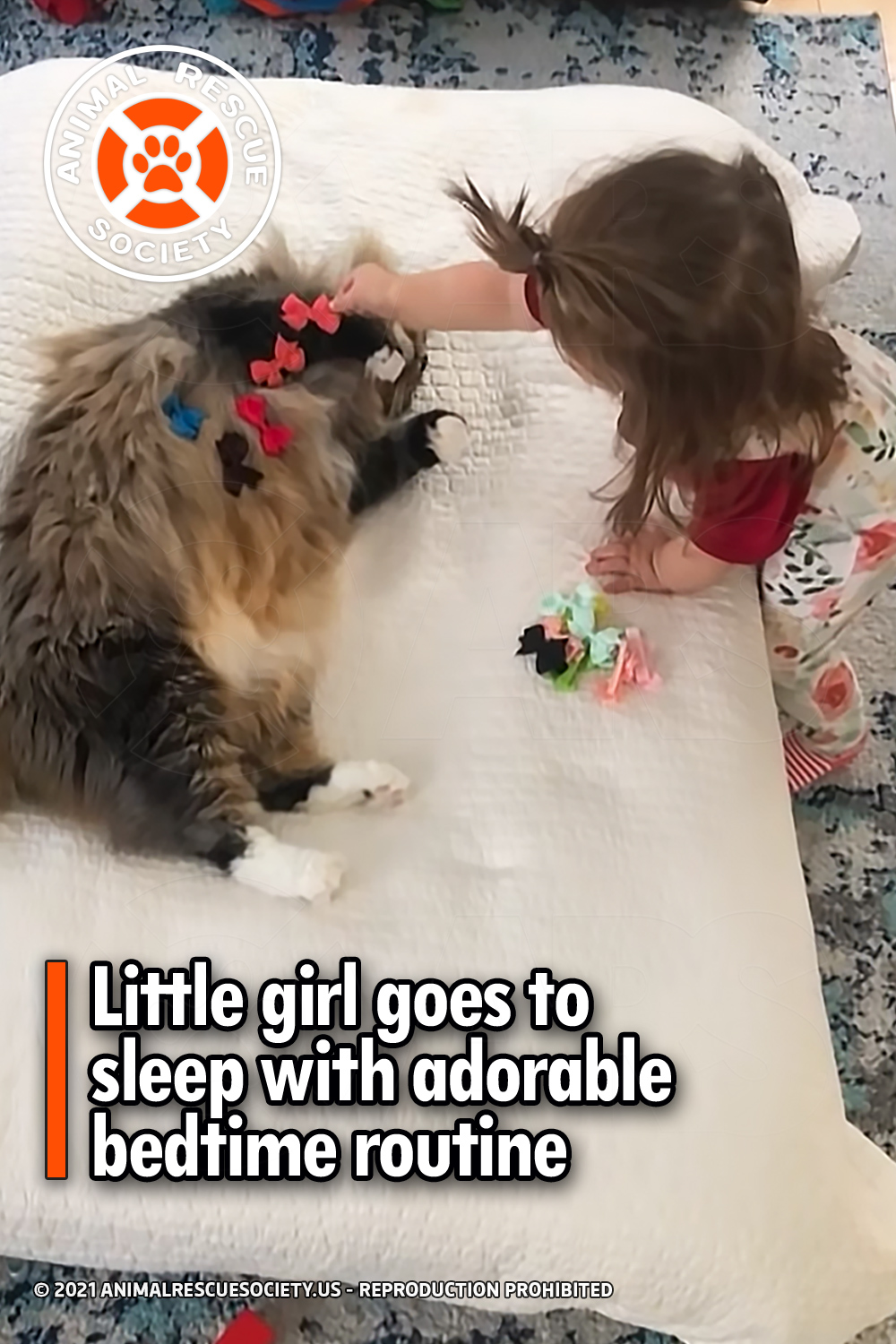 Little girl goes to sleep with adorable bedtime routine